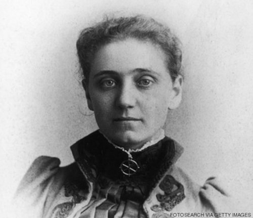 Portrait of Jane Addams, circa 1870s. (Photo by Fotosearch/Getty Images).